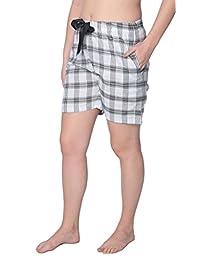 Women's 100% Cotton Plaid Lounge Sleep ShortsAvailable in Plus Size