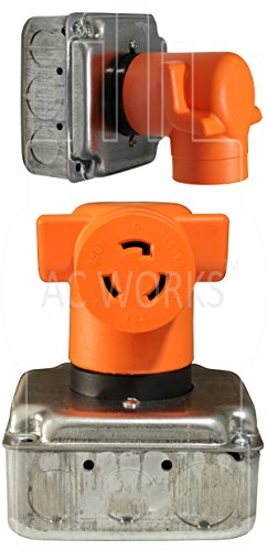 AC WORKS [AD1430L620] Dryer Outlet Adapter NEMA 14-30P 30Amp Dryer Outlet to L6-20R 20Amp 250Volt Locking Female Connector by AC WORKS (Image #5)