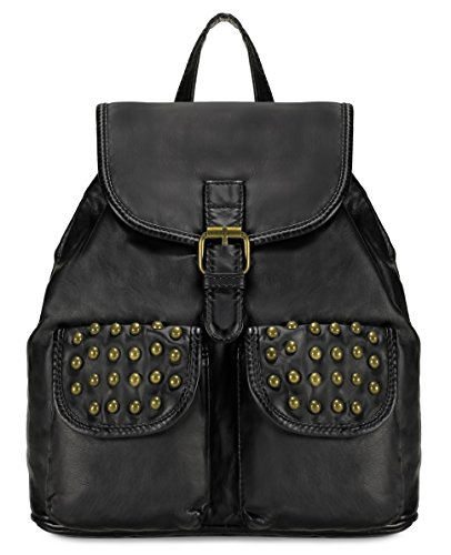 Scarleton Trendy Studded Jacquard Backpack H200301 - Black