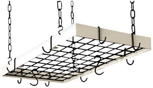 Grid Pot Rack in Classic Black and White Hooks (Classic Black/White)