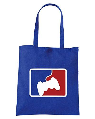 T-Shirtshock - Bolsa para la compra OLDENG00816 pro gamer Azul Real