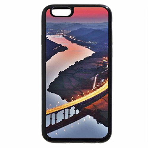 iPhone 6S / iPhone 6 Case (Black) beautiful bridge over river in a valley at dusk