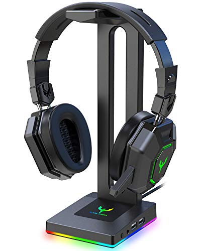 Blade Hawks RGB Gaming Headphone Stand with 3.5mm AUX and