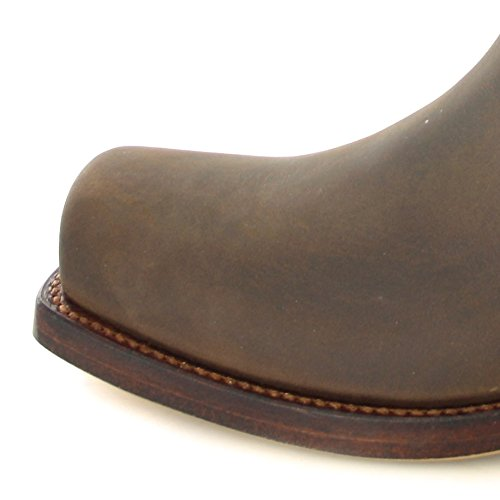 Mayura Boots MB004 Saddle/ Damen und Herren Bikerstiefelette Braun/ Herrenstiefelette/ Damenstiefelette Sadale
