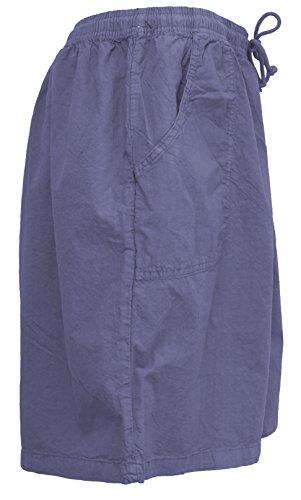 Salem Straits Women's Plus Size 100% Cotton Sheeting Cargo Shorts (Periwinkle, 2X) by Salem Straits (Image #4)