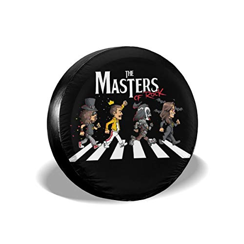 The Beatles and Queen Rock Band Spare Tire Cover Waterproof Dust-Proof Universal Spare Wheel Tire Cover Fit for Jeep,Trailer, RV, SUV and Many Vehicle 14