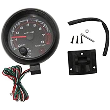WINOMO 12V Digital Tachometer Gauge 95mm Dial Red Light Auto Car Engine Speed Meter