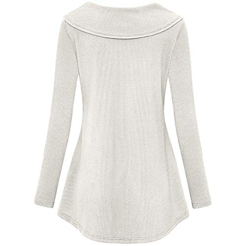women Tops Giulogre Para Camisas Blanco Mujer TdTpPqw