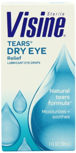 Visine Tears Natural Tears Formula Lubricant Eye Drops, 1 Fluid Ounce