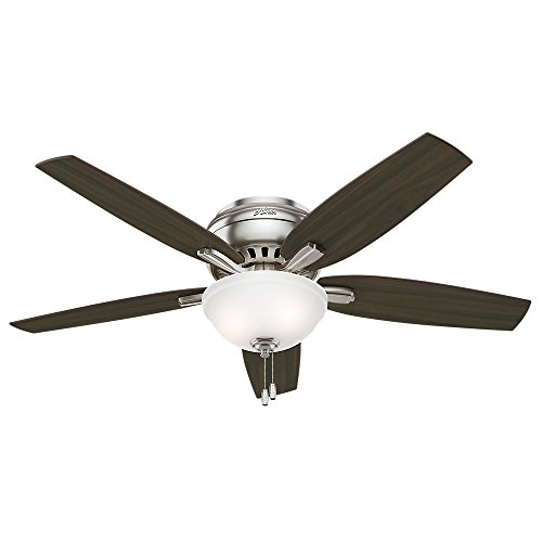 Hunter 53315 Newsome Ceiling Fan with Light, 52''/Large, Brushed Nickel by Hunter Fan Company (Image #3)
