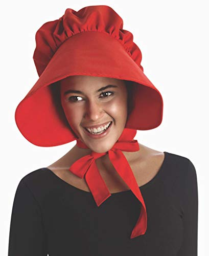(Forum Novelties Women's Colonial Bonnet Costume Accessory, Red, One Size)