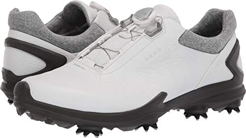 (ECCO Men's Biom G3 BOA Gore-TEX Golf Shoe, Shadow White Yak Leather, 8 M US)