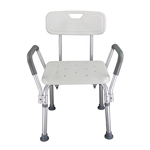Faucet Cup Seat (Z ZTDM 450LBS Capacity Shower Chair Medical 6 Adjustable Height Bath Seat Stools Bench with Antiskid Feets for Elderly)