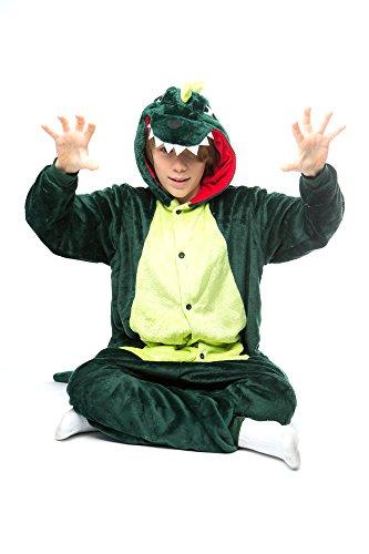 Snug Hand Stitched Unisex Green Dragon Animal Onesie (Children (Buy Onesies For Adults)