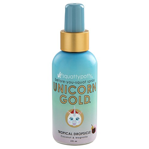 Squatty Potty Unicorn Gold Toilet Spray, Tropical Dropsicle, 4 Fl Oz