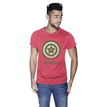 Creo Captain Saudi T-Shirt For Men - L, Pink