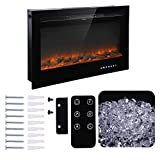 "Homedex 36"" Recessed Mounted Electric Fireplace"