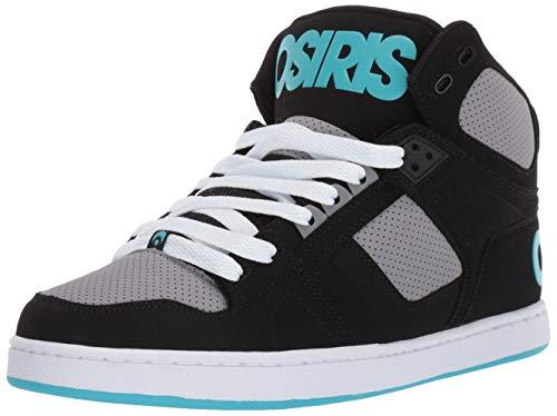 - Osiris Men's NYC 83 CLK Skate Shoe, Black/Grey/Cyan, 14 M US