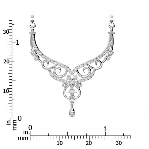 Or blanc/or jaune/Platine Diamant Collier avec chaîne dnc-2231-vsgh