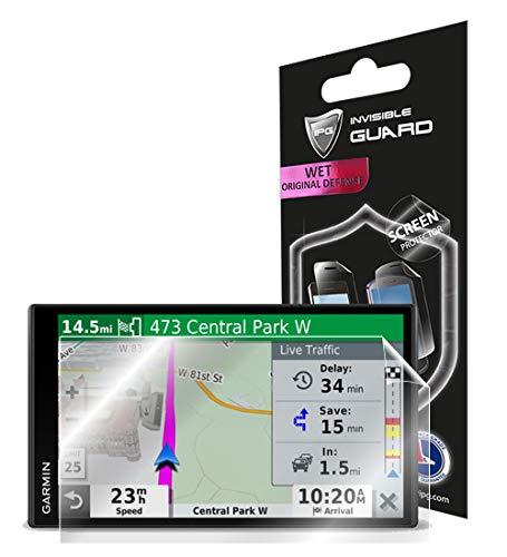IPG for Garmin DriveSmart 65 & Traffic GPS Navigator 6.95 Display Screen Protector Invisible Ultra HD Clear Film Anti Scratch Skin Guard - Smooth/Self-Healing/Bubble -Free