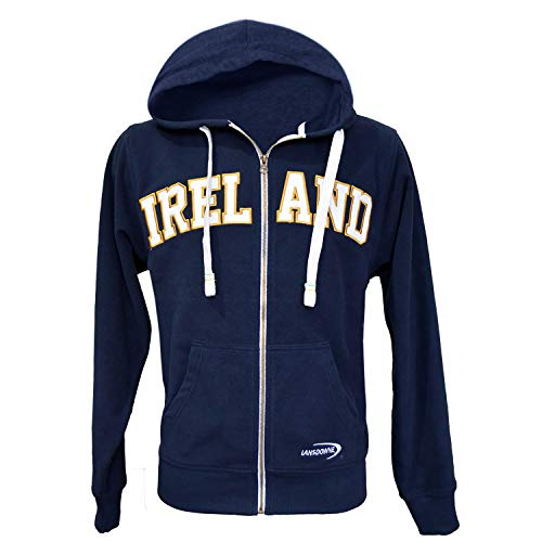Lansdowne Navy Ireland Full Zip Fleece Hoodie (X-Large)