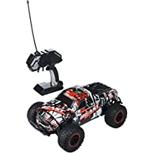 High Speed Racing Slayer Remote Control Red Toy Rally Truck RC Car 1:16 Scale Size w/ Working Suspension, Spring Shock Absorbers