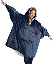 THE COMFY Original | Oversized Microfiber & Sherpa Wearable Blanket, Seen On Shark Tank, One Size Fits