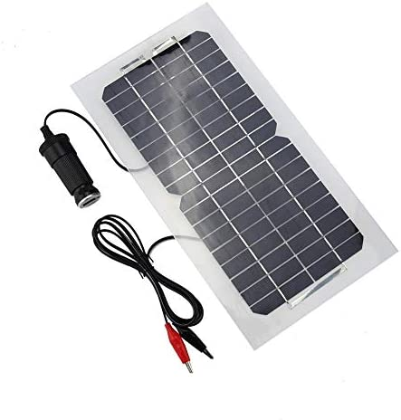 Atyhao 18V 5,5W tragbares Solarpanel 12V / 5V Batterieladegerät Stromversorgungsgerät