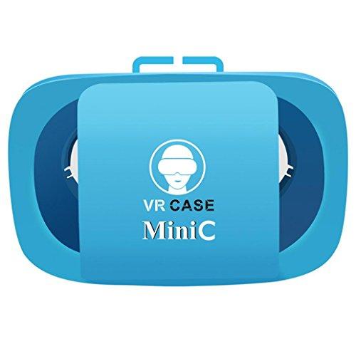 Leoy88 Mini C VR Box Glasses Applicable for 4.5-5.5 inch SmartPhone (Blue)
