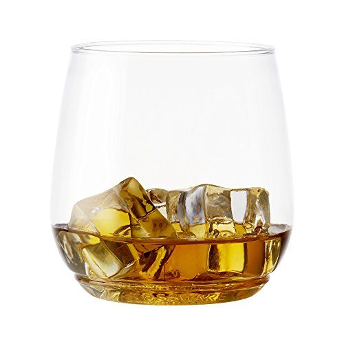 TOSSWARE 12oz Tumbler Jr - recyclable cocktail and whiskey plastic cup - SET OF 48 - stemless, shatterproof and BPA-free whiskey glasses
