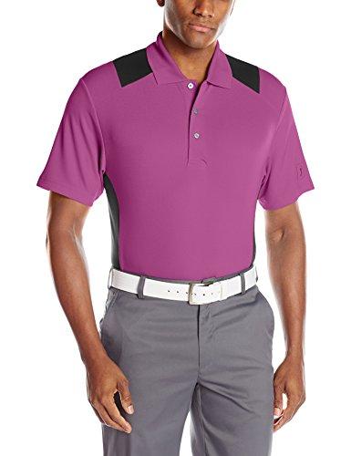 Apparel Viola - PGA TOUR Men's Short Sleeve Airflux Two Color Blocked Polo,  Vivid Viola, Large