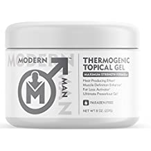 Modern Man Thermogenic Fat Burning Cream – Belly Fat Burner for Men – Skin Tightening Sweat Enhancer Gel | Burn Stomach Fat Fast for Defined Six Pack Abs & Steel Physique | Bodybuilding Weight Loss