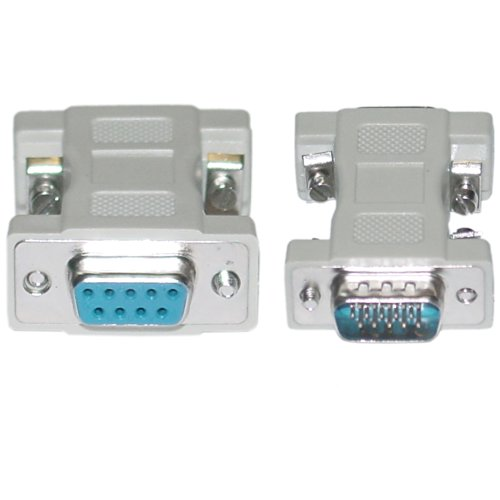 - CableWholesale DB9 Female/HD15 VGA Male, VGA Adaptor Molded Cable (30D1-19300)