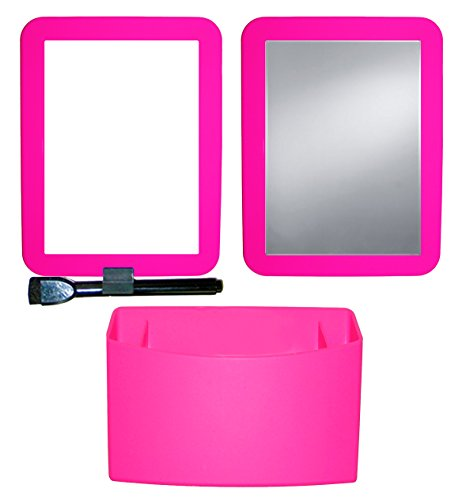 Inkology Color Rush Silicone 3 Piece Magnetic Locker Accessory Set, Hot Pink (569-8)
