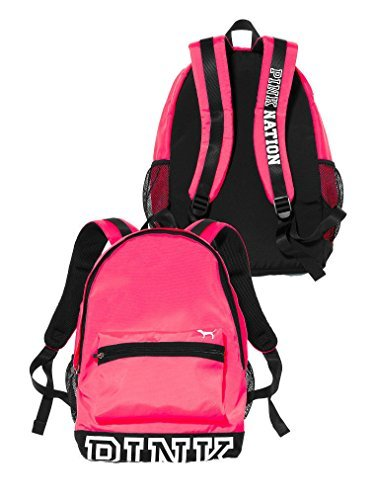 NWT Victoria's Secret Pink Nation Limited Edition Padded Laptop Sleeve Backpack School Book Bag Tote PINK Color RARE!