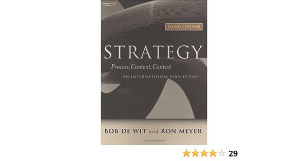 Strategy: Process, Content, Context: Amazon.es: Wit, Bob De ...