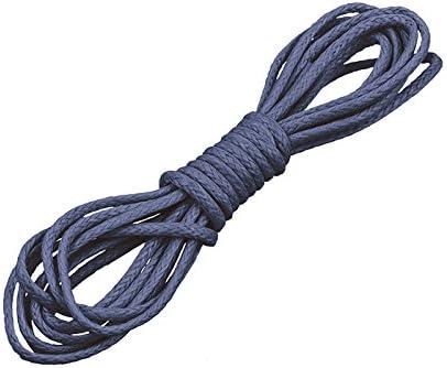 Cordón de algodón encerado, 1 mm, redondo, 1 metro, color azul: Amazon.es: Hogar