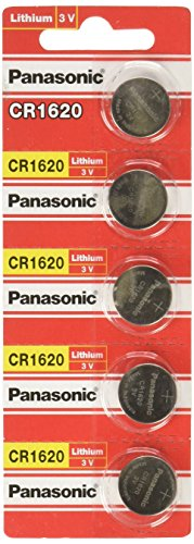 Panasonic Lithium Battery CR1620 Pack of 5 Batteries (Battery 1620)