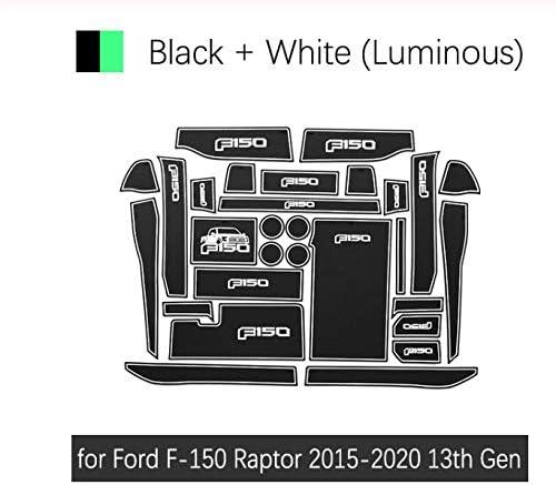 linfei Alfombrilla Antideslizante con Ranura para Puerta De Goma para Ford Mustang 2015-2019 6Ta Generaci/ón S550 Ecoboost Export GT Accesorios Etiqueta