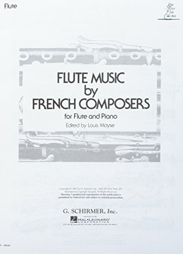 Flute Music French Composers - Flute Music By French Composers: for Flute and Piano