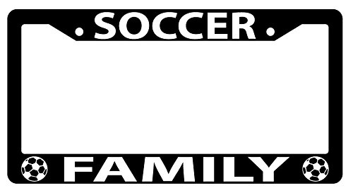 Soccer Family High Quality Black Plastic License Plate Frame