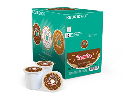 The Model Donut Shop Regular Keurig Single-Serve K-Cup Pods, Medium Roast Coffee, 24 Count