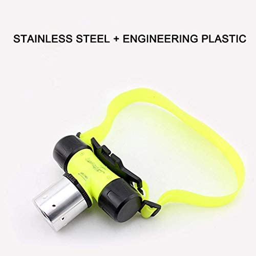 OUPPENG Headlamp, Glare Led Chargeable Head-mounted Underwater Dedicated Waterproof Outdoor Diving Headlamp Night Underground Work