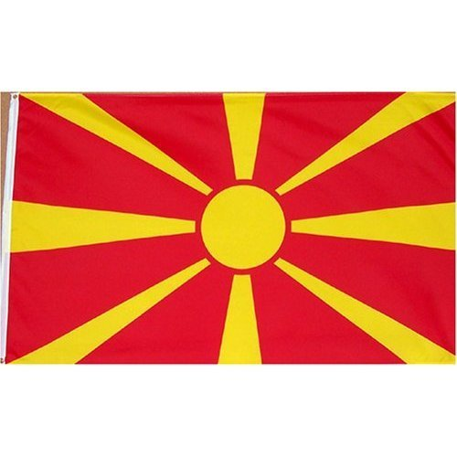 Macedonia Flag Polyester 3 ft. x 5 ft.