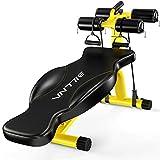 KERVINJESSIE Sit-ups Fitness Equipment, Home Multi-Function Dumbbell Bench Men's Abdominal Trainer (Color : Yellow)