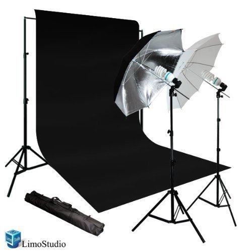 Limonew Photo Video Umbrella Continuous Lighting Light Kit Set- Lighting Stand by LimoStudio