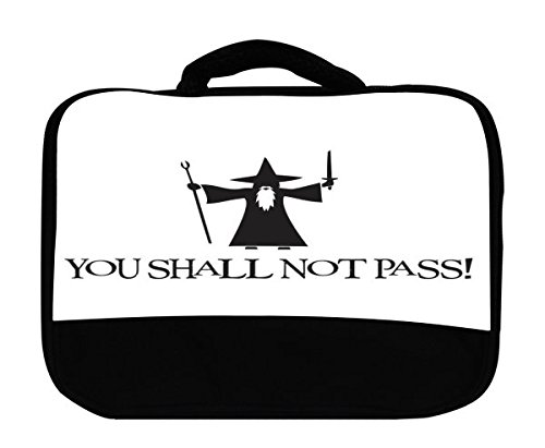 You Shall Not Pass Quote Wizard Design Print Image Canvas Lunch Bag by Trendy Accessories ()