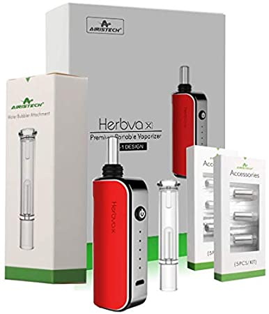 Herbva X - 3 in 1 Complete Premium Portable Bundle - Comes Water Bubbler/Filter Attachment, Replacement Capsules