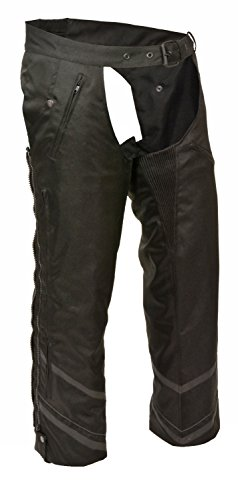 Mens Textile Double Side Zip 4 Pocket Chap Reflective Taping