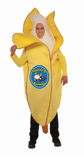 Forum Novelties Men's Appealing Banana Mascot Costume, Yellow, One (Funny Pair Costumes)